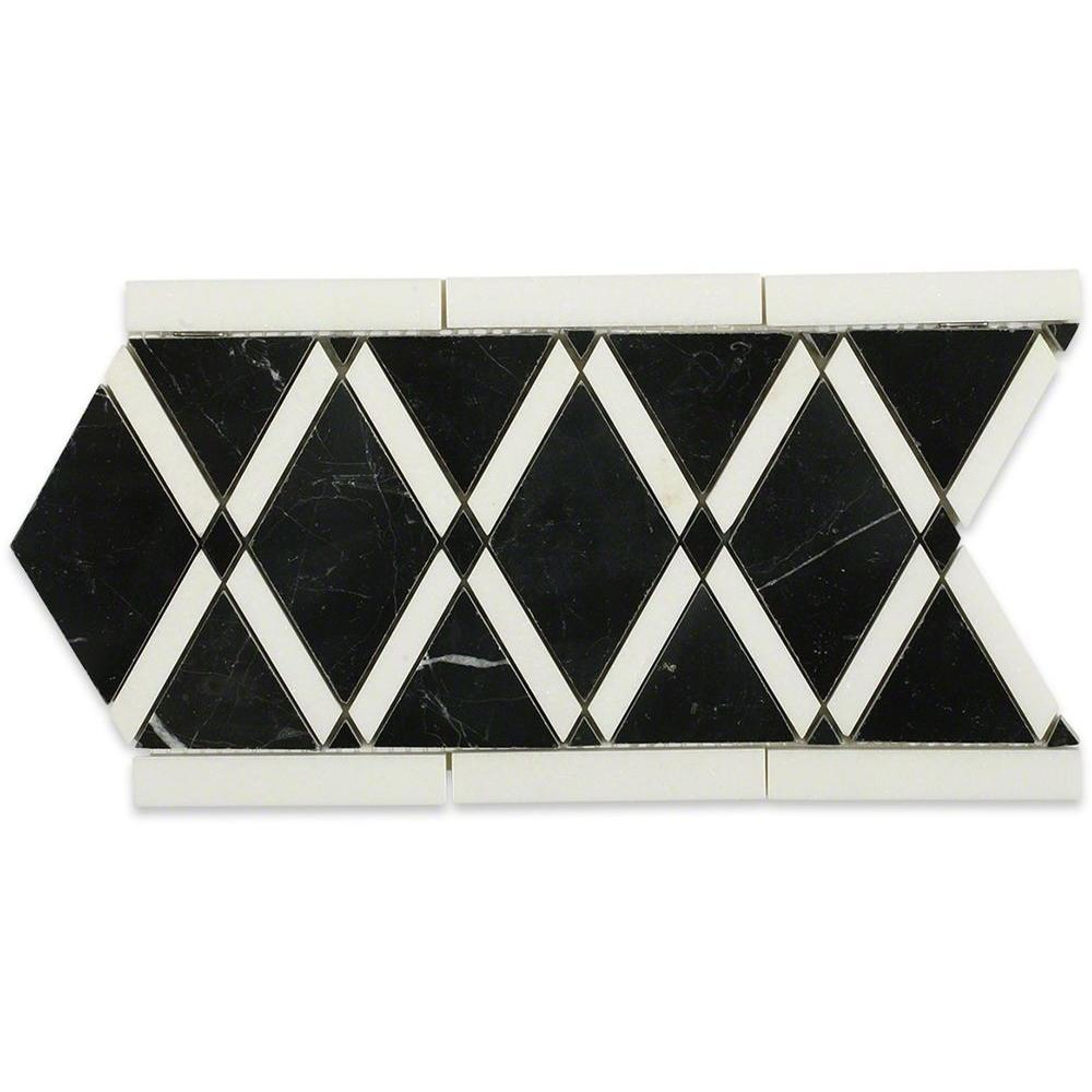 Ivy Hill Tile Grand Nero Border 6 In X