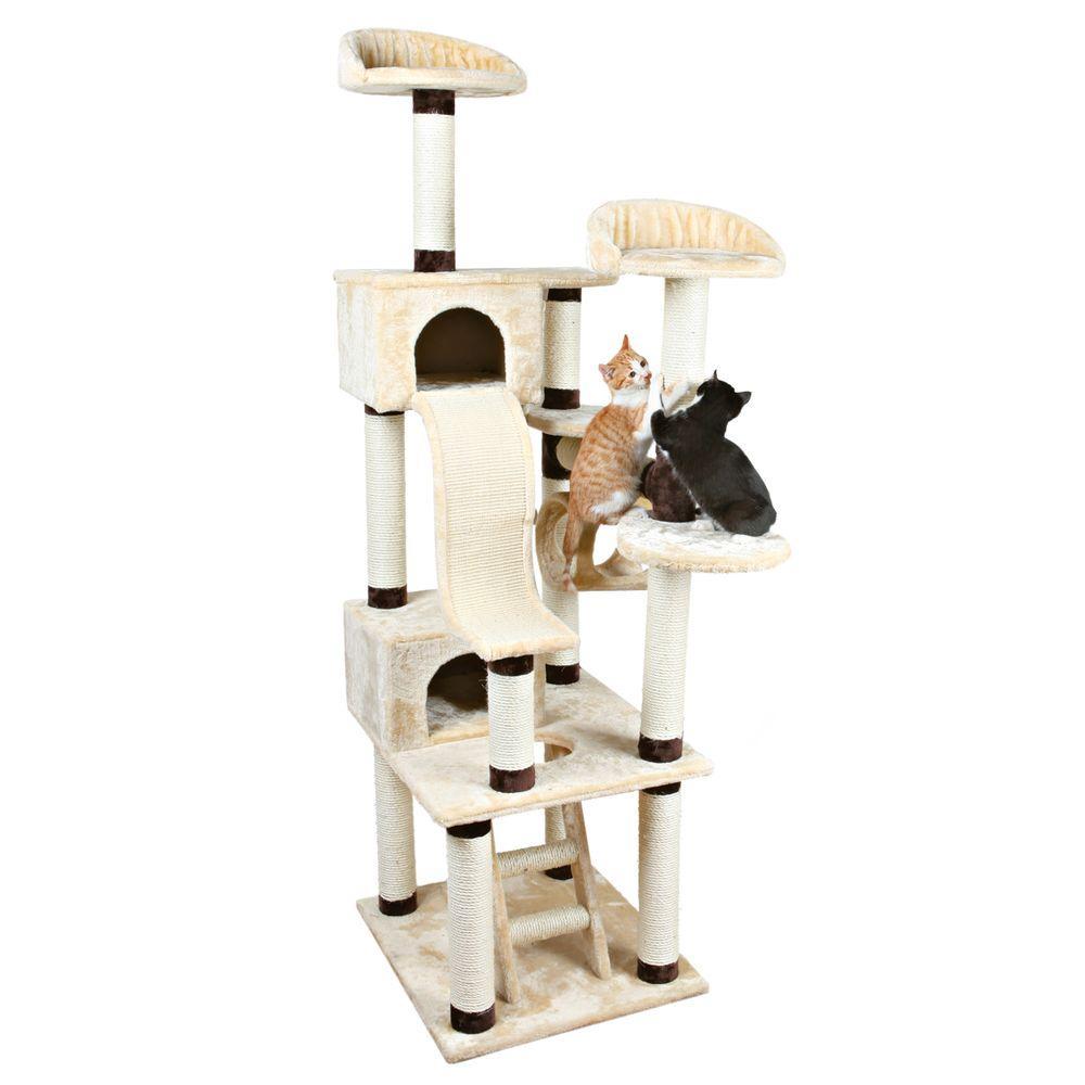 Beige/Chocolate Brown Adiva Cat Playground