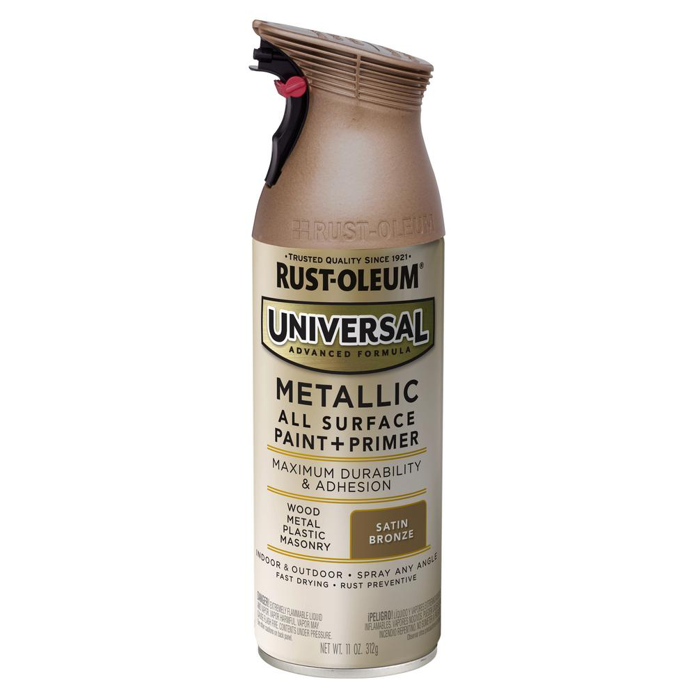 Rust-Oleum Universal 11 oz. All Surface Metallic Satin Bronze Spray Paint and Primer in One