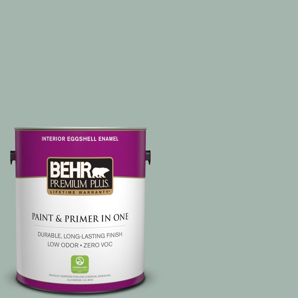 BEHR Premium Plus 1-gal. #460E-3 Smokey Slate Zero VOC Eggshell Enamel Interior Paint