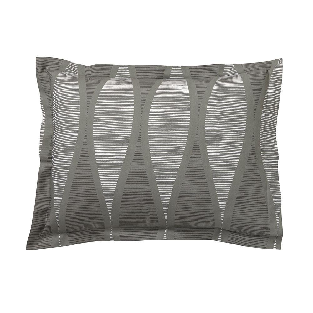 Facade Gray Cotton Percale Standard Sham
