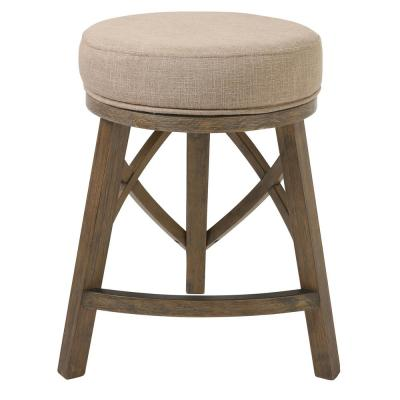 """Regal 25"""" Counter Height Swivel Stool with Cream Fabric"""