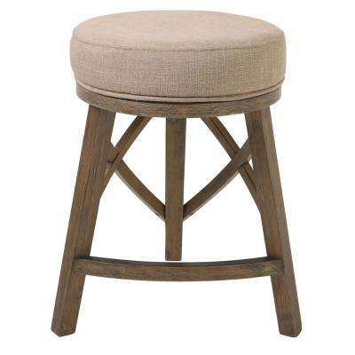 "Regal 25"" Counter Height Swivel Stool with Cream Fabric"