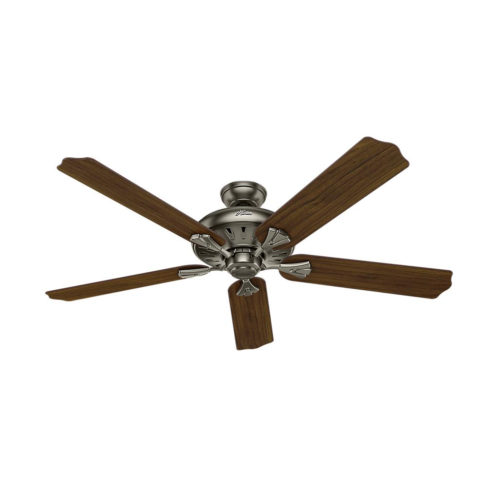 Indoor Antique Pewter Ceiling Fan With Remote