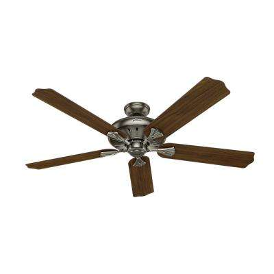 Royal Oak 60 in. Indoor Antique Pewter Ceiling Fan with Remote