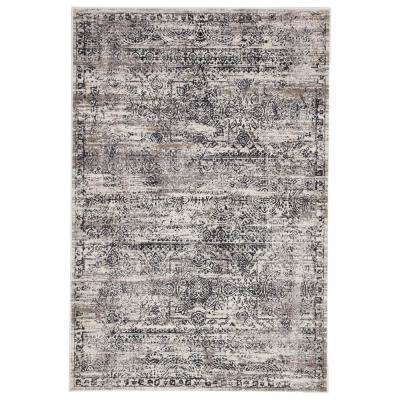 Masonic White 5 ft. x 7 ft. 6 in. Abstract Rectangle Area Rug