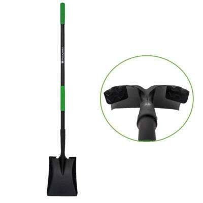 Transfer Shovel with Oversize Step Flanges, Non-Slip Grip and Reinforced Fiberglass Handle