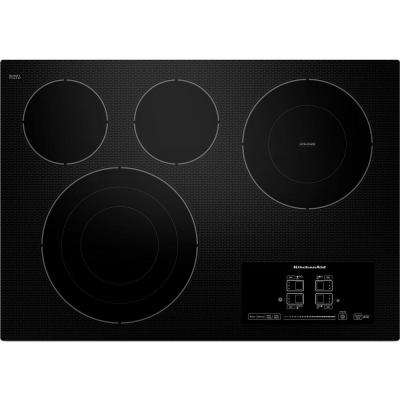 30 in. Ceramic Glass Electric Cooktop in Black with 4 Elements including Tri-Ring and Double-Ring Elements