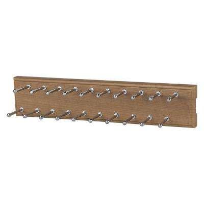 20-Hook Nutmeg Sliding Tie Rack