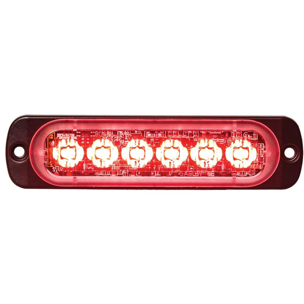 Buyers Products Company LED Red Horizontal Strobe Light