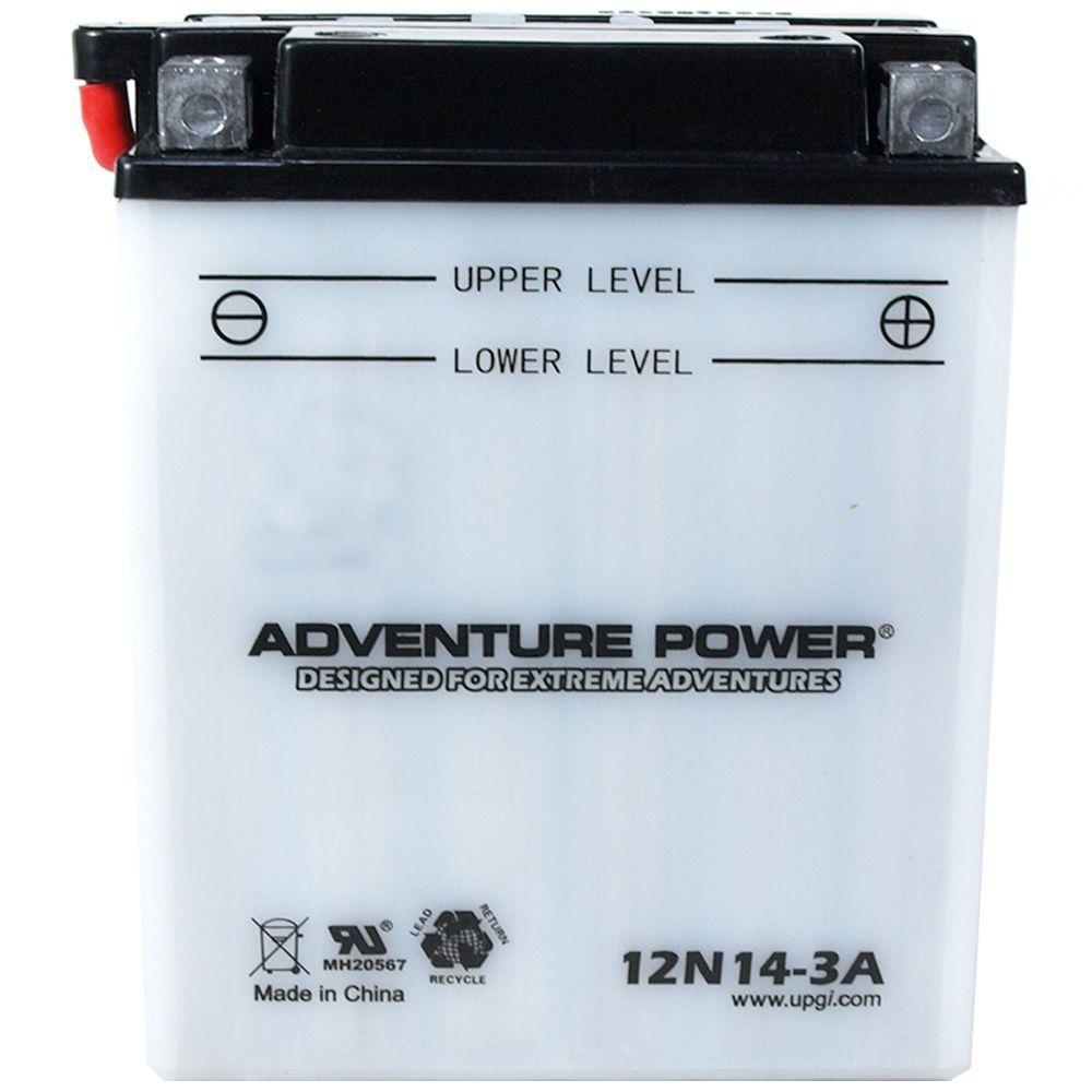 Conventional Wet Pack 12-Volt 14 Ah Capacity D Terminal Battery