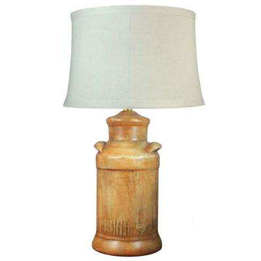 27 in. Orange Barnyard Chickens Ceramic Table Lamp