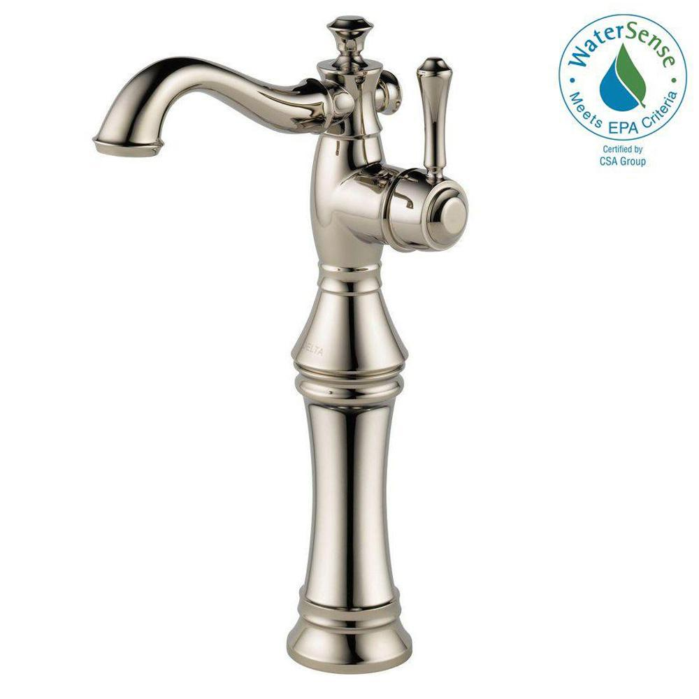 Delta Cassidy Single Hole Single-Handle Vessel Bathroom Faucet in ...