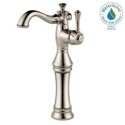 Cassidy Single Hole Single-Handle Vessel Bathroom Faucet in Polished Nickel