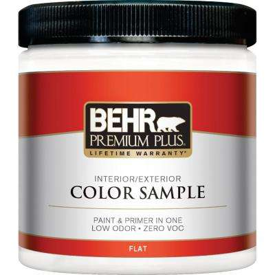 8 oz. #100 Ultra-Pure White Flat Interior/Exterior Paint and Primer in One Sample