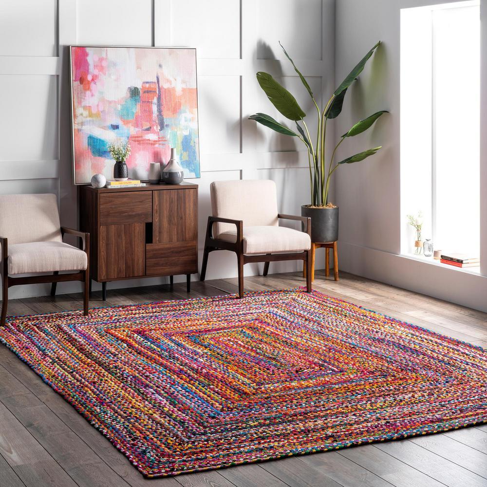 Tammara Colorful Braided Multi 3 ft. x 5 ft. Area Rug