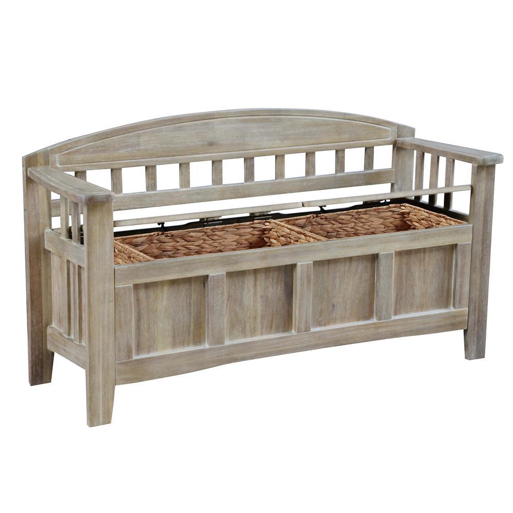 Iris Natural Wash Storage Bench