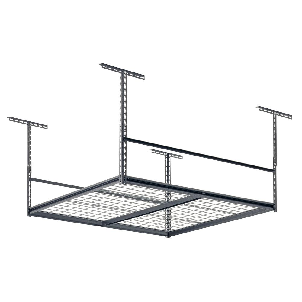 H Adjustable Height Steel W X 42 In L X 48 In Ceiling Storage Rack 96 In