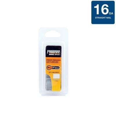 1 in. 16-Gauge Glue Collated Straight Finish Nails (1000-Count)