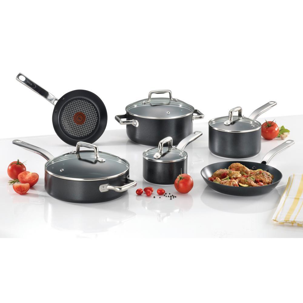 Prograde 10-Piece Black Non-stick Cookware Set