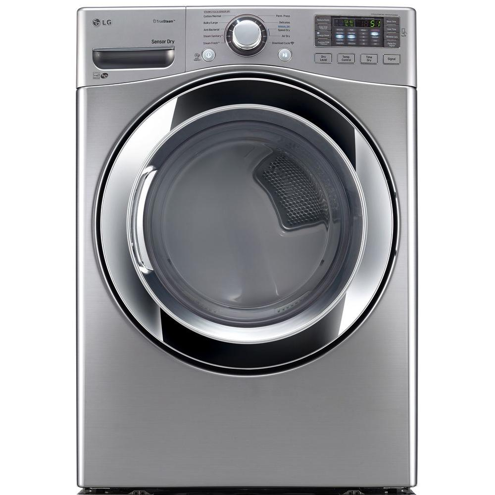 7.4 cu. ft. Electric Dryer with Steam in Graphite Steel, ENERGY