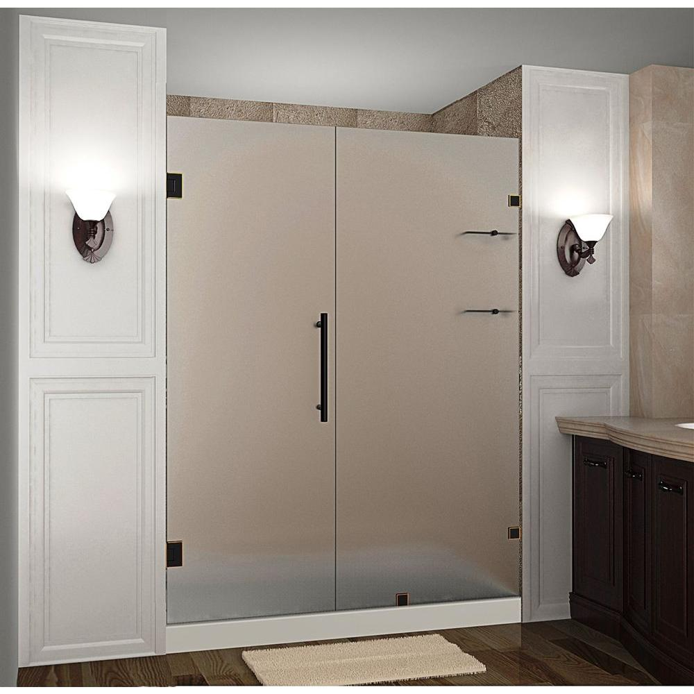 Aston Nautis GS 58 in. x 72 in. Frameless Hinged Shower Door with ...