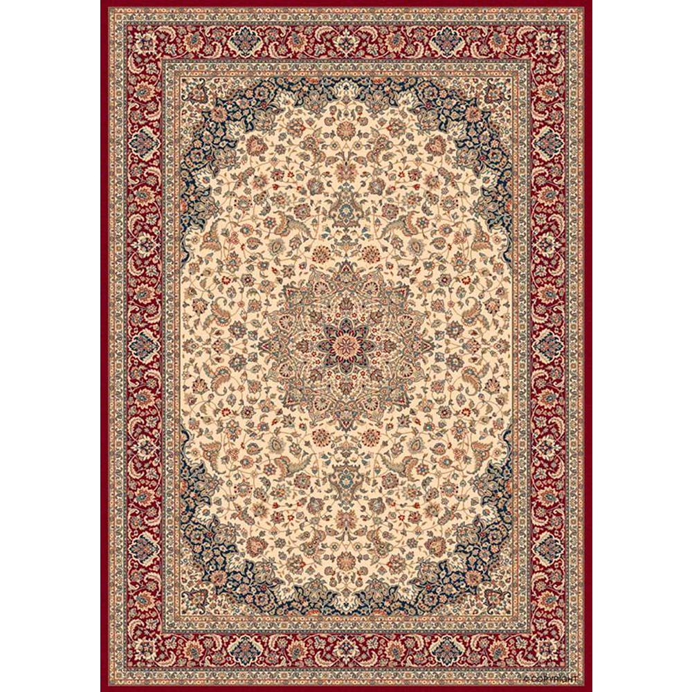 Balta US Classical Manor Cream/Red 3 ft. 11 in. x 5 ft. 7 in. Area Rug