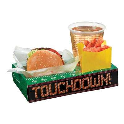 9.5 in. x 1.75 in. Football Field Tailgate Snack Box Trays