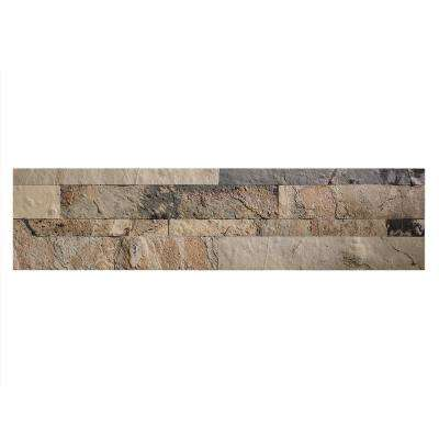 23.6 in. x 5.9 in. Peel and Stick Stone Decorative Tile Backsplash in Medley Slate
