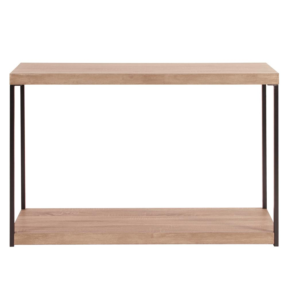 Attirant Wood And Metal Console Table