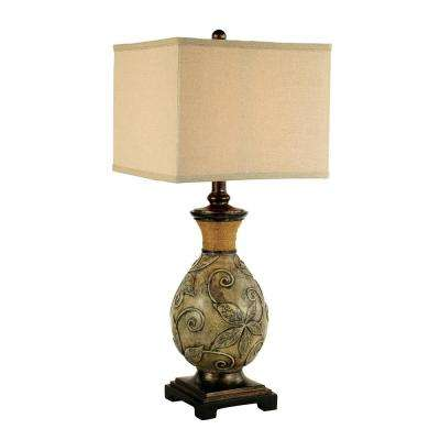 Hardwiredplug in table lamps lamps the home depot white wash patina and aged bronze table lamp greentooth Gallery