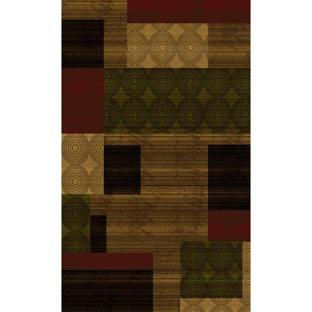 Home Dynamix Bazaar Cas HD1626 Brown/Multi 5 ft. 2 in. x 7 ft. 2 in. Area Rug