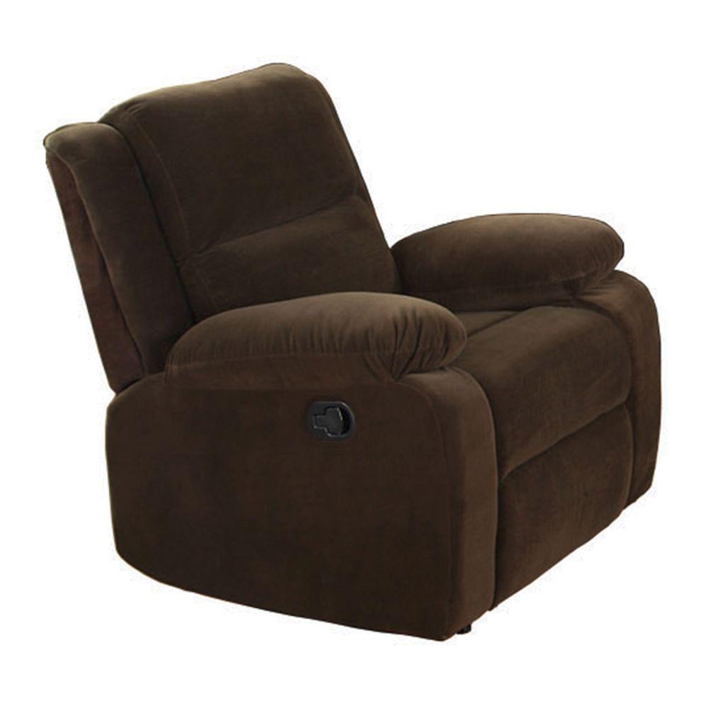 Furniture Of America Haven Dark Brown Flannelette Recliner