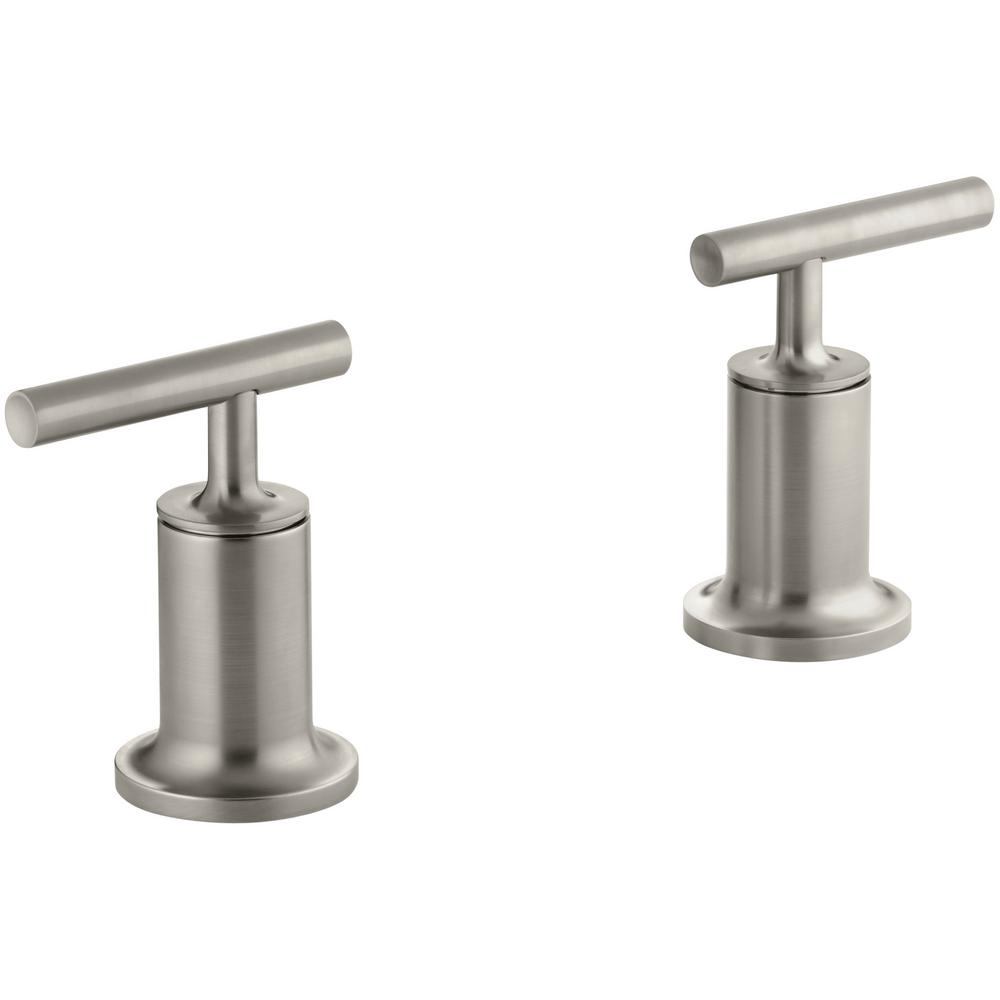 kohler purist roman tub faucet trim only in vibrant brushed nickel