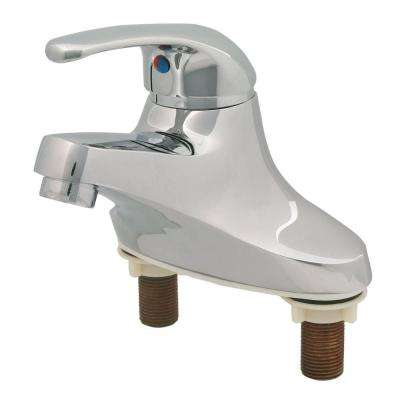4 in. Centerset 1-Handle Lever Faucet in Polished Chrome