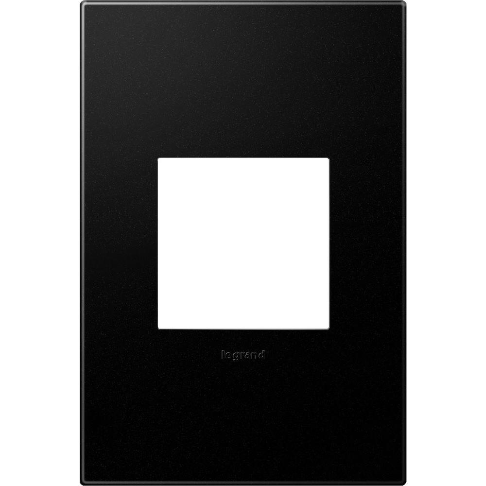 legrand adorne 1gang 2 module wall plate graphite