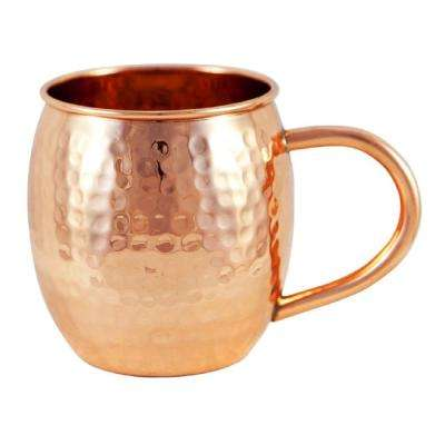 Copper Hammered Barrel Mug