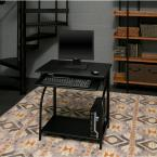 OneSpace Black Stanton Computer Desk with Pullout Keyboard Tray