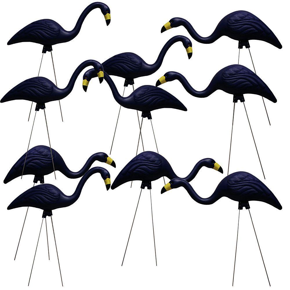 TEAMingos 26 in. Navy Flamingo (10-Pack)