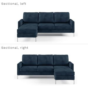 Fabulous Novogratz Chapman Blue Velvet Sectional Sofa With Chrome Onthecornerstone Fun Painted Chair Ideas Images Onthecornerstoneorg