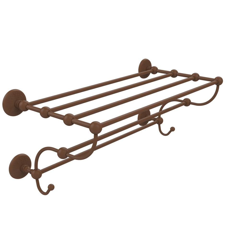 Prestige Monte Carlo Collection 24 in. Train Rack Towel Shelf in