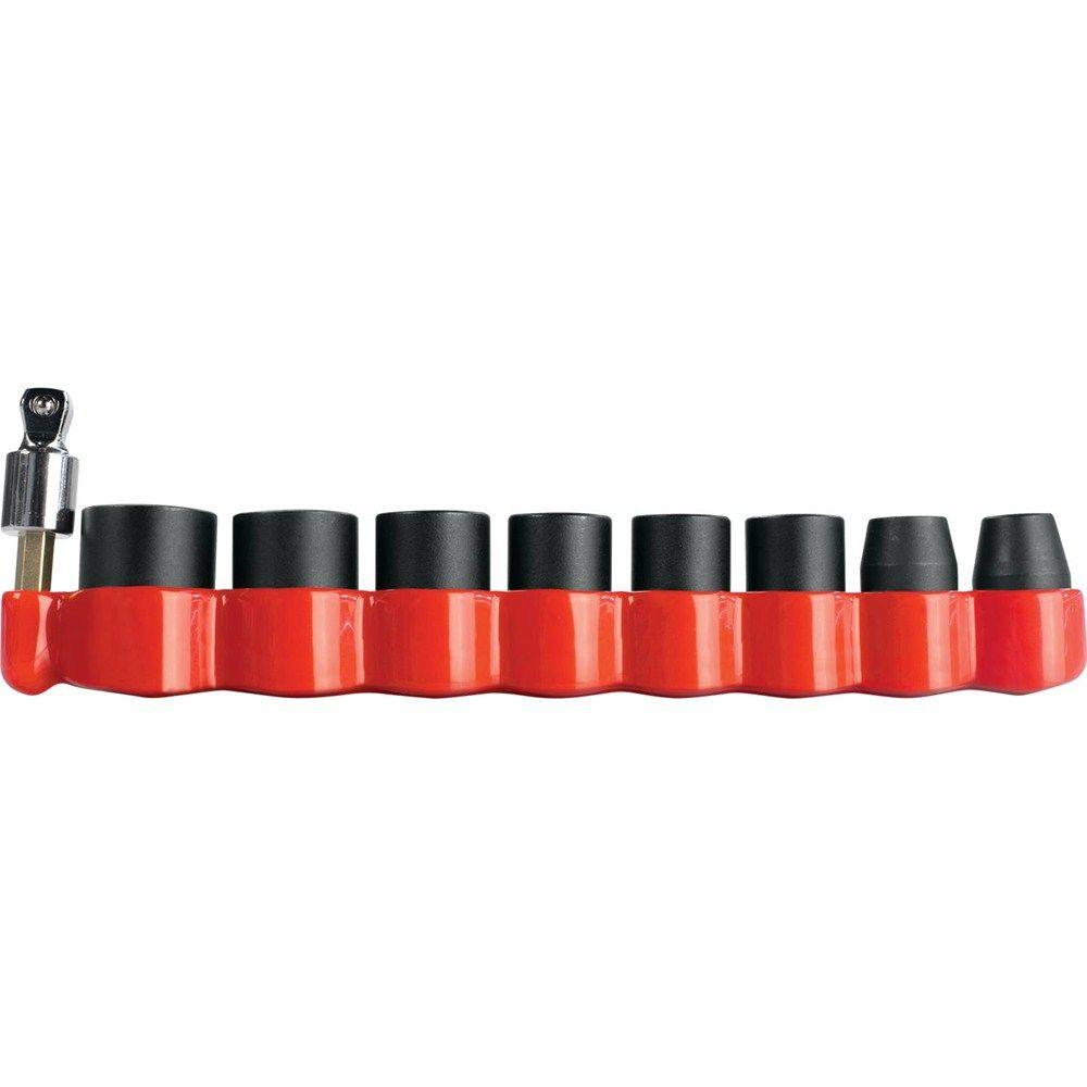 Impact GOLD 3/8 in. 6-Point Metric Impact Socket Set with 15°