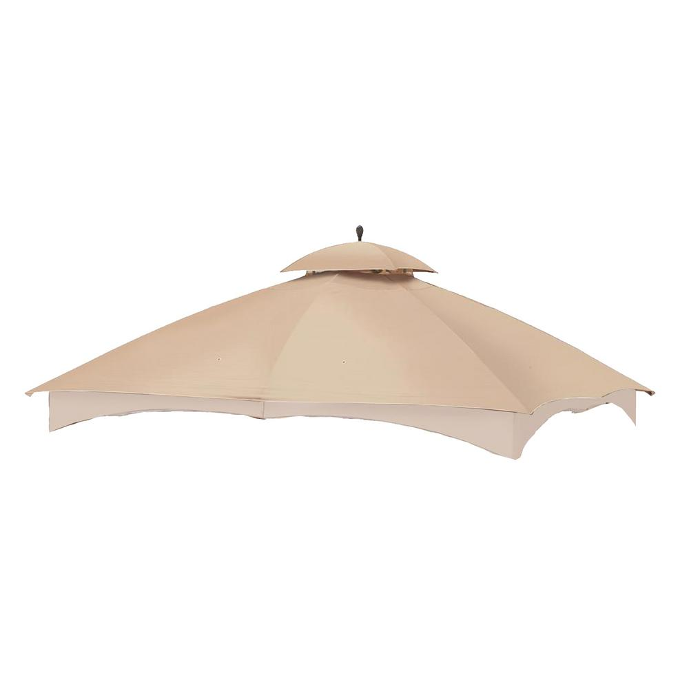 Garden Winds RipLock 350 Beige Replacement Canopy Top and Side Mosquito Netting Set for 10 ft. x 12 ft. Massilllon Gazebo