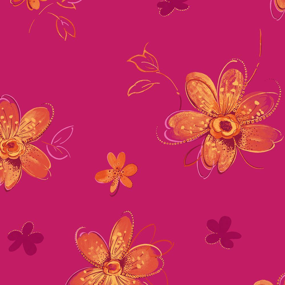 York Wallcoverings 56 sq. ft. Bohemian Floral Wallpaper-DISCONTINUED