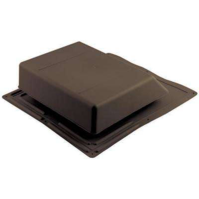 61 sq. in. NFA Plastic Slant-Back Roof Louver Static Vent in Brown (Sold in Carton of 6 only)