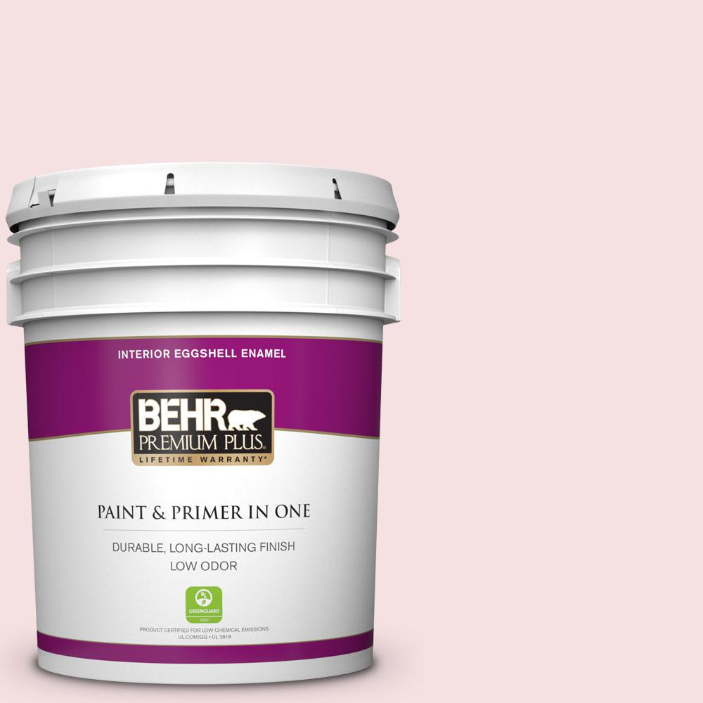 Behr Premium Plus 5 Gal 100c 1 Cupid Arrow Eggshell Enamel Low Odor Interior Paint And Primer In One 205005 The Home Depot