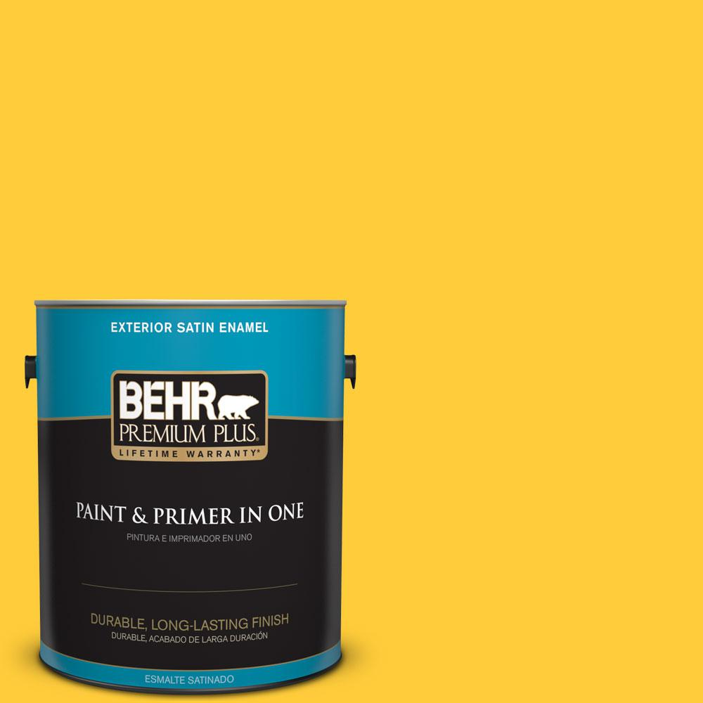 BEHR Premium Plus 1-gal. #S-G-360 Bright Star Satin Enamel Exterior Paint