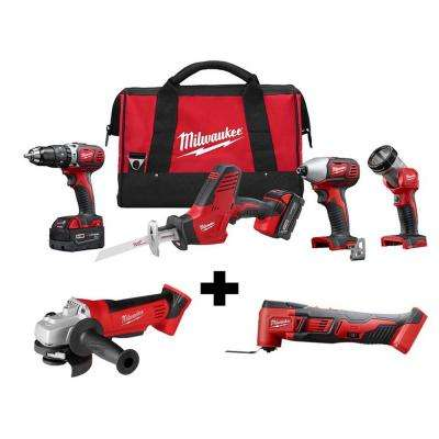 M18 18-Volt Lithium-Ion Cordless Combo Tool Kit (4-Tool) W/  M18 4-1/2 in. Cut-Off/Grinder & Multi-Tool