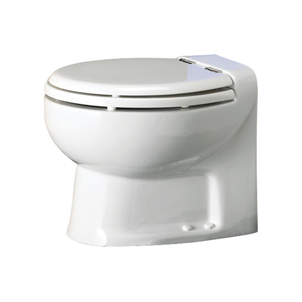 Thetford tecma silence plus 1 mode in 2 volt rv toilet with electric solenoid low in white 38361 for Thetford bathroom anywhere reviews