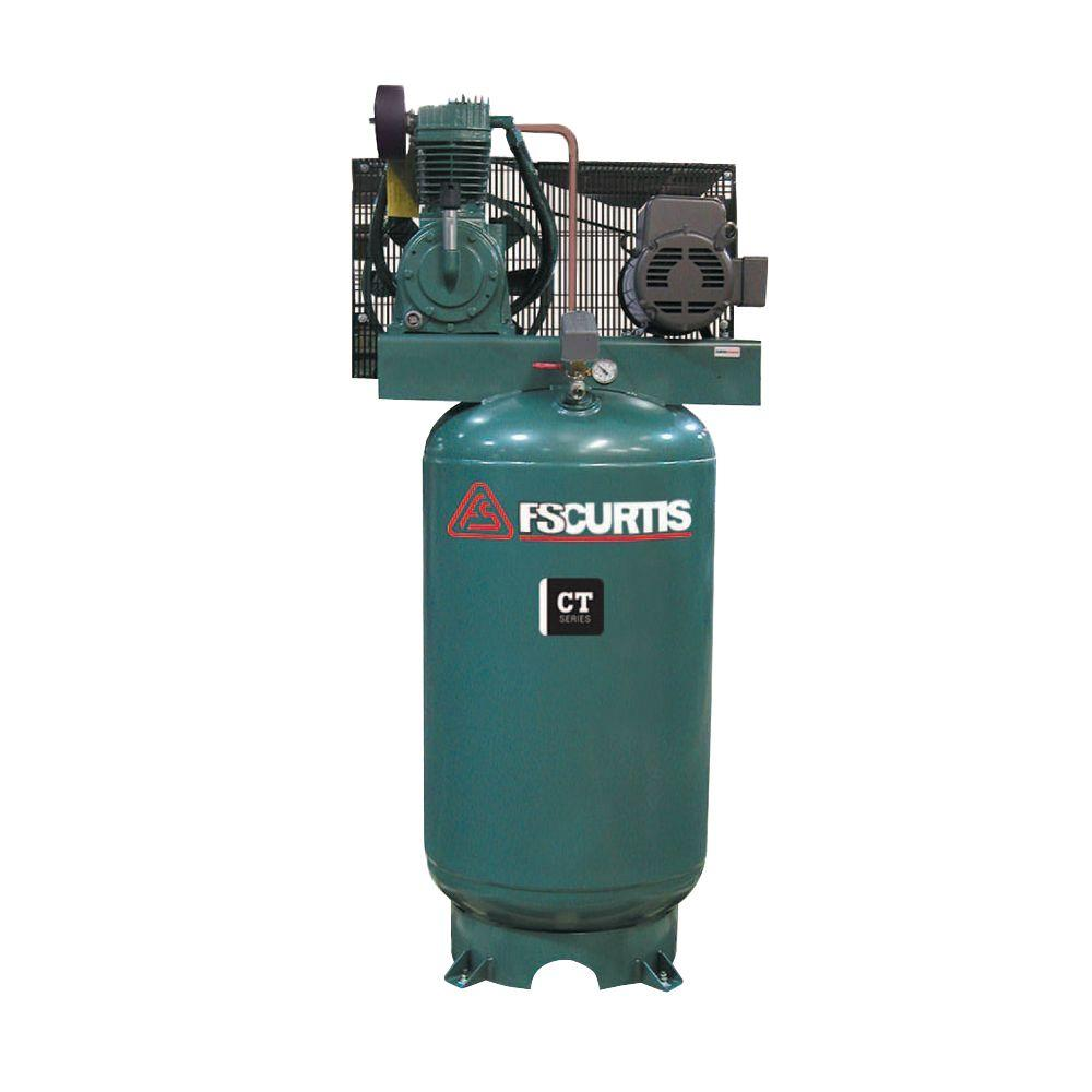 fs curtis stationary air compressors fct07c75v8s a2l1xx 64_1000 ingersoll rand type 30 reciprocating 80 gal 7 5 hp electric 230  at bayanpartner.co